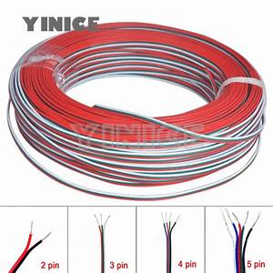 3pin 4pin 5pin 22awg Led Connect Led Rgb Wire Cable For