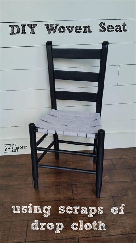 easy weave chair seat  repurposed life