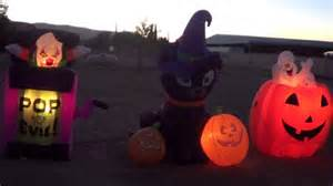 Halloween Blow Up Decorations by Halloween Inflatables Display 2013 Youtube