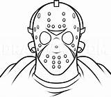 Jason Myers Michael Drawing Voorhees Easy Draw Step Coloring Drawings Vorhees Freddy Horror Krueger Cartoon Pages Mask Scary Friday Sketches sketch template