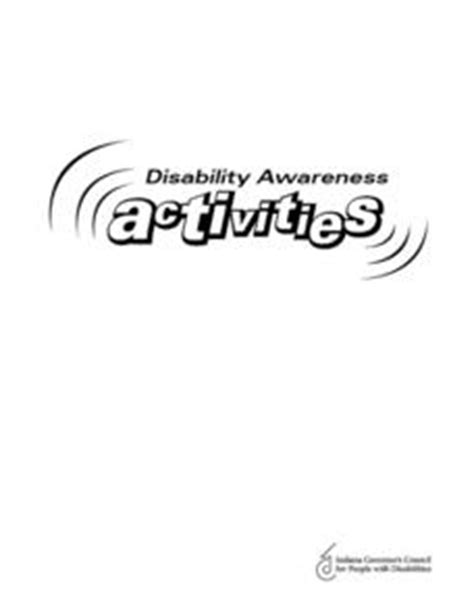 disability awareness activities activities project