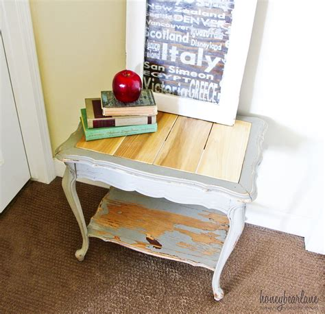 replace a glass table top with wood planks honeybear