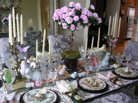 easter table eclectic dining room chicago