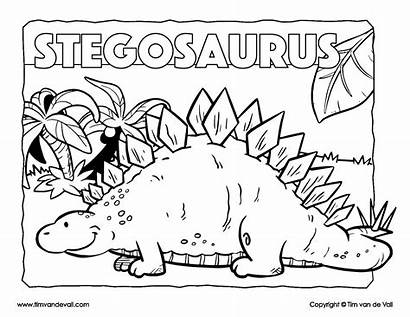 Coloring Stegosaurus Dinosaur Dino Timvandevall Printables Tim