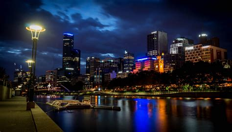 australia houses rivers lights melbourne