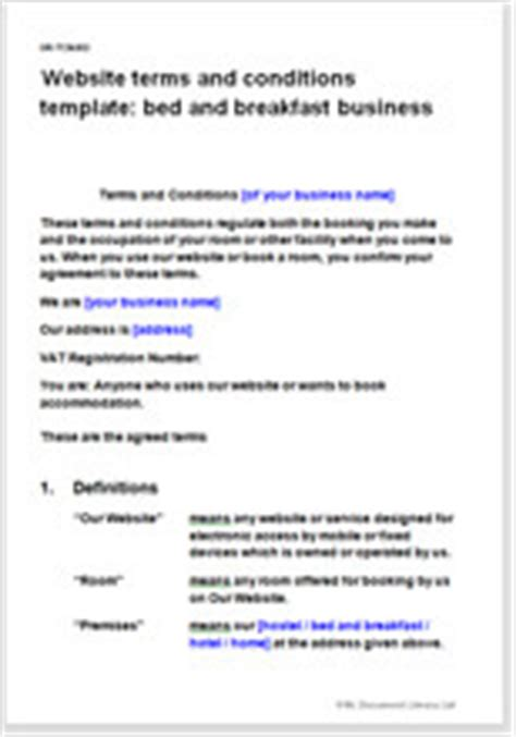 website terms and conditions website terms and conditions template bed breakfast business