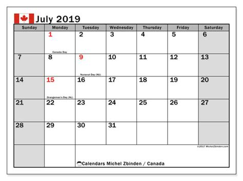 july calendar canada michel zbinden en