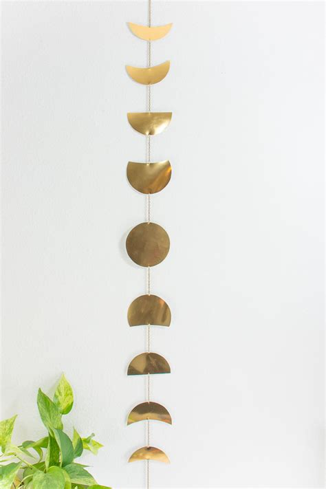 easy metal diy moon phases wall hanging