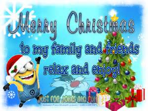 merry to my family and friends minion quote pictures photos and images for