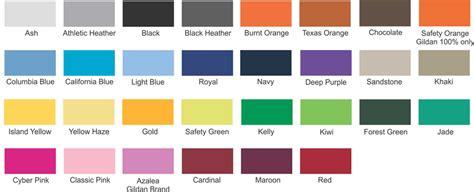 colorsize charts