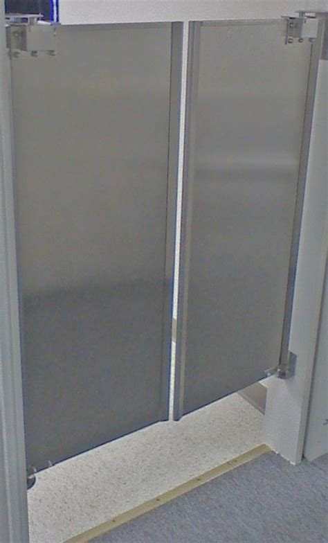cafe doors stainless steel double door  stock swinging