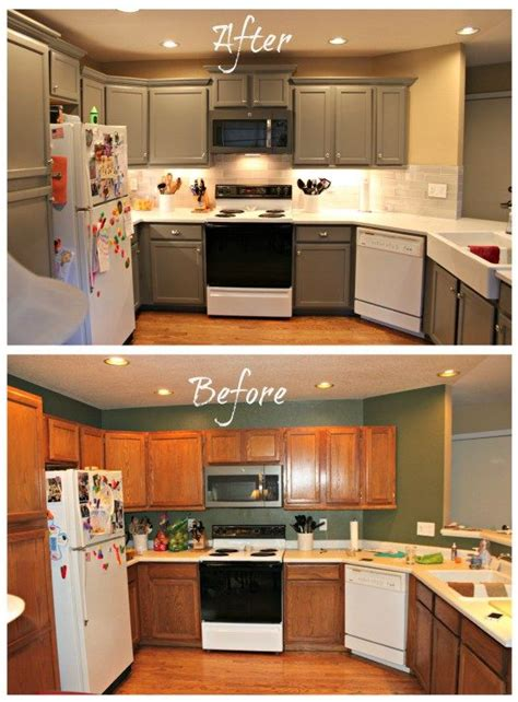 redo kitchen cabinets before and after our new updated kitchen reveal my home remodels 9206