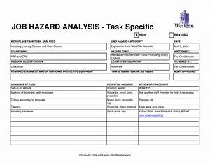 Best photos of job task template job task analysis for Job hazard assessment template