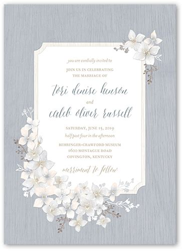 rustic wildflowers  wedding invitations shutterfly