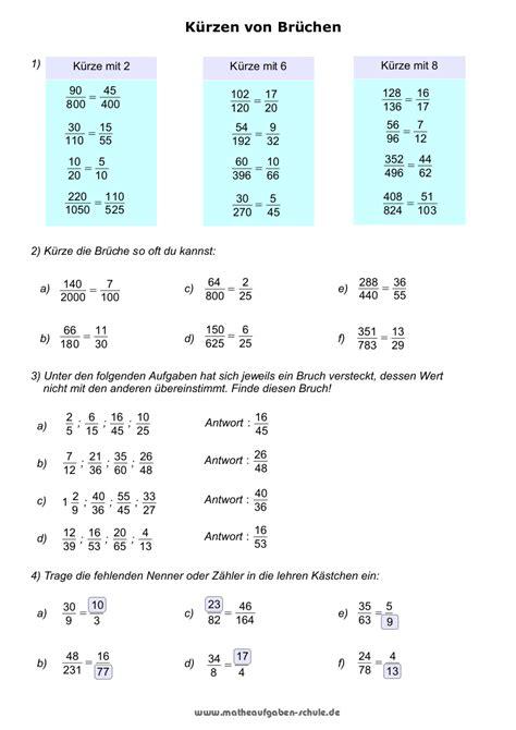 brueche bruchrechnen mathe  klasse