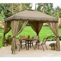 excellent patio tent with net 10 x 10 Portable Gazebo Replacement Canopy and Netting ...
