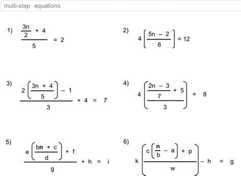 Linear Equations Worksheet Answers Worksheets For All  Download And Share Worksheets  Free On