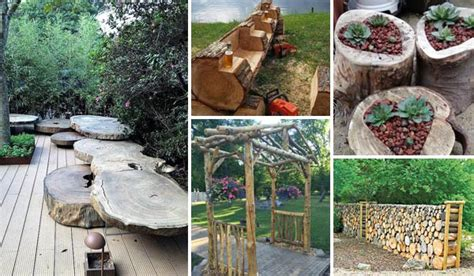 Garden Decoration Logs by 19 Amazing Diy Tree Log Projects For Your Garden Amazing