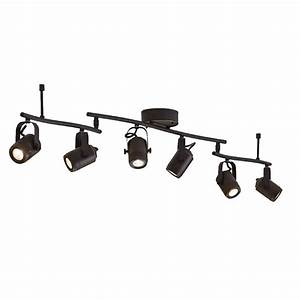 Led Track Lighting Heads Dimmable Allen Roth Tyslow 6 Light 45 8 In Bronze Dimmable Led
