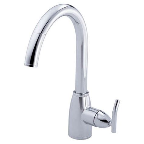 danze single handle kitchen faucet danze d404554 sonora single handle pull kitchen