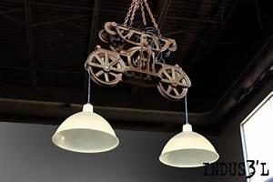 Suspension Luminaire Industriel : suspension indus3 39 l poulie double de grange industriel suspension luminaire montreal ~ Teatrodelosmanantiales.com Idées de Décoration