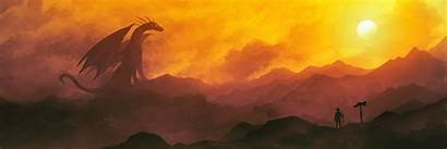 Dragon Panorama Monitor Fantasy Wallpapers Multi Chromamancer