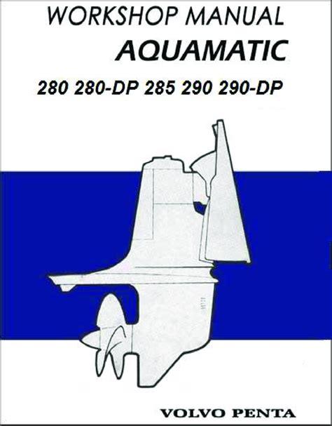 volvo penta outdrive  dp   dp workshop manual
