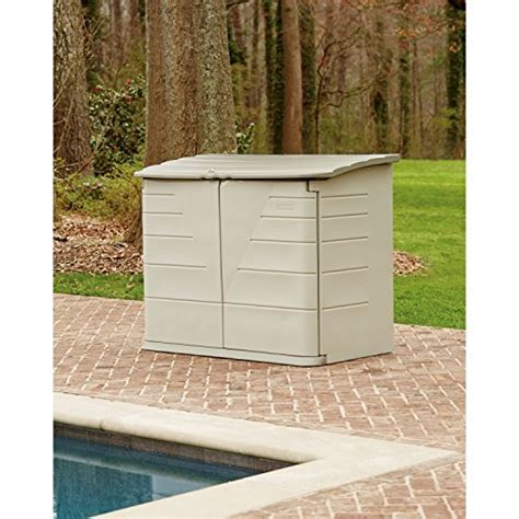 Rubbermaid Outdoor Horizontal Storage Shed, Large, 32 cu