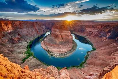 Arizona Horseshoe Bend Near Scenic Sunset Alla