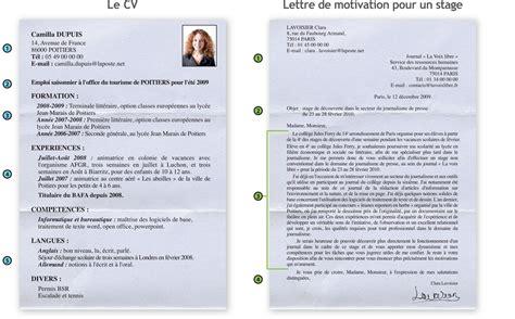 Ecrire Cv by Savoir 233 Crire Un Cv Et Une Lettre De Motivation Lettres