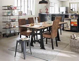 Suspension Industrielle Maison Du Monde : 10 tables de repas rallonges joli place ~ Teatrodelosmanantiales.com Idées de Décoration