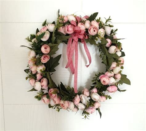 How to make a flower wall hanging with faux flowers to celebrate valentine's day or spring. 1pc Door Hanging Garland Ornaments Heart shaped Wreath Love Flower Wedding Christmas Wreath Wall ...