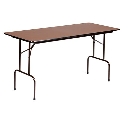 correll 72 in rectangle counter height folding table