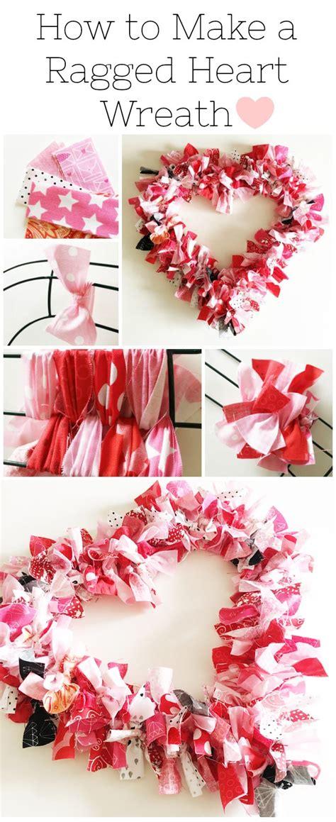 heart fabric rag wreath tutorial  polka dot chair