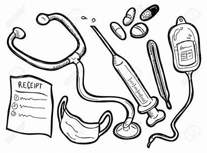 Medical Equipment Clipart Doctor Coloring Tools Pages