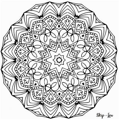 Mandala Coloring Pages Stress Lou Skip Away