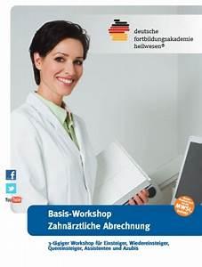 Zahnärztliche Abrechnung : seminar einsteigerkurs in die zahn rztliche abrechnung neue pressemitteilungen ~ Themetempest.com Abrechnung