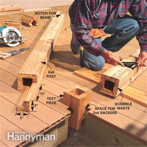 Notching 6x6 Deck Posts by Deck Plans The Family Handyman