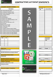 Health safety forms construction templates for Accident statistics template