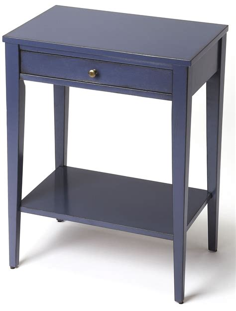 navy blue side table cobble hill navy blue console end table 2251291 butler