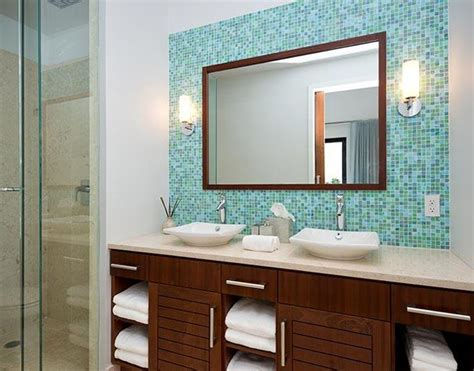 Blue Glass Mosaic Bathroom Tiles Tile Ideas And Pictures