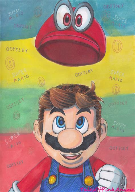 Speed Drawing Nintendo Switch Super Mario Odyssey By