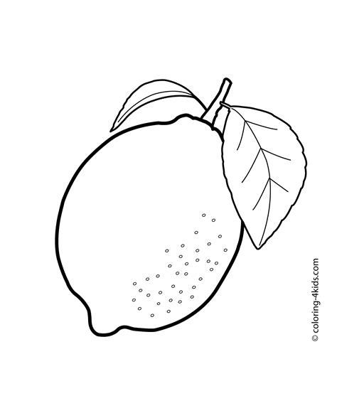 lemon fruits coloring pages  kids printable