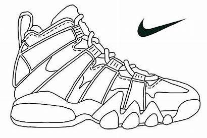 Coloring Shoe Running Pages Shoes Printable Getcolorings
