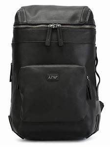 Armani Jeans Artificial Leather Backpack in Black for Men | Lyst