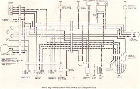 Suzuki Rv 125 Wiring Diagram by Original Suzuki Ts Tc Tm Forum 18 Suzuki Tc100l 1974