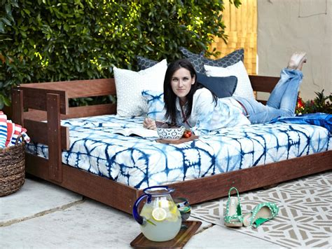 diy hanging outdoor bed build a lounge worthy outdoor daybed how tos diy
