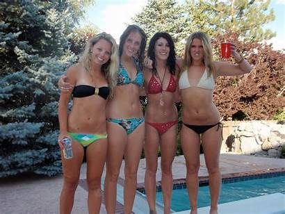Grade Candid Middle Bikinis Pool Party Eighth