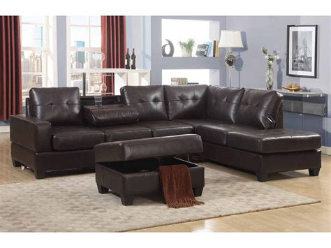 couch with large ottoman sectional couch ottoman chocolate microfiber sectional