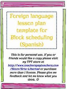 foreign language lesson plan template block schedule by With foreign language lesson plan template